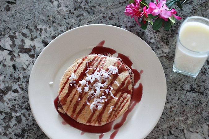 Whole Grain Protein Pancakes