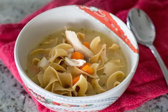 100% Whole Grain Chicken Noodle Soup