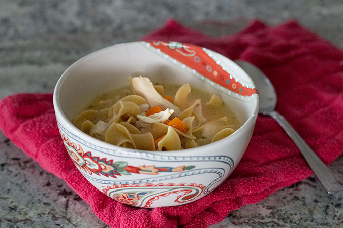 100 whole grain chicken noodle soup  a slice of style
