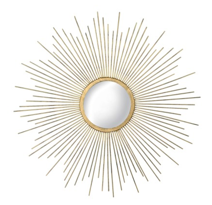 Metal Sunburst Mirror – $34.99