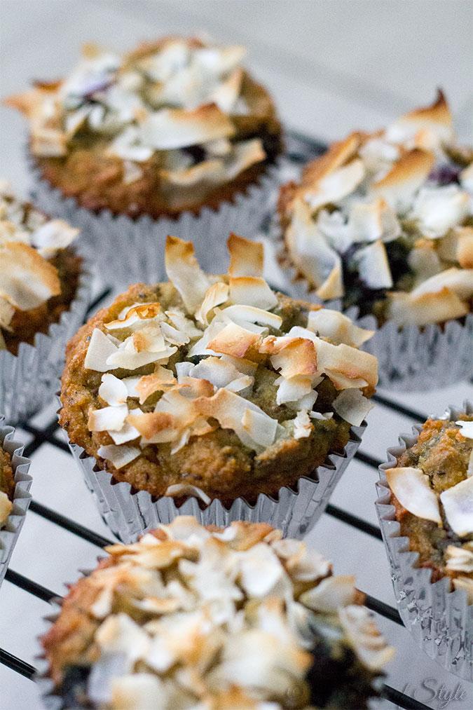 Blueberry Coconut Gluten Free Muffins