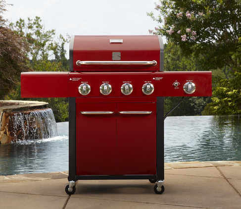 kenmore 4 burner gas grill. kenmore 4-burner gas grill \u2013 red | $184.99 with code kodlbmsm, normally $299.99 4 burner