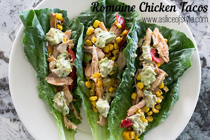 Romaine Chicken Tacos