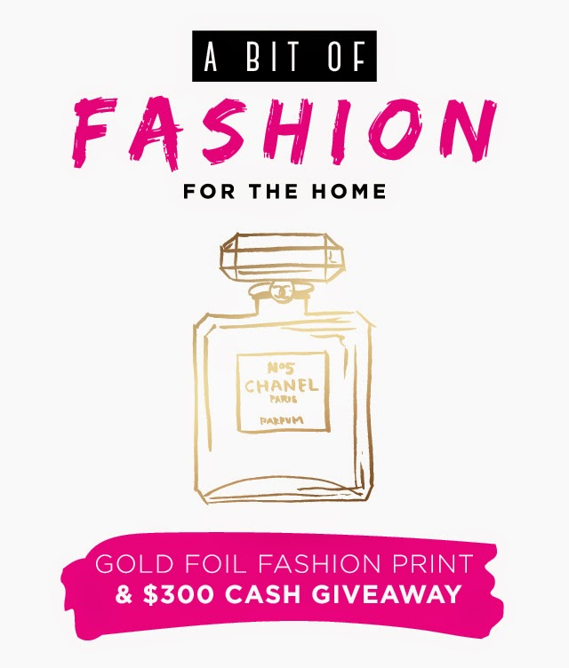 Gold Foil Fashion Print and $300 Cash Giveaway!