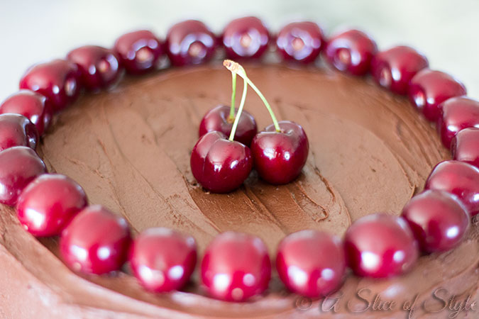 chocolate cake, chocolate, desserts, cherries, dessert ideas, dessert recipes, chocolate cake recipe, chocolate frosting, chocolate frosting recipe