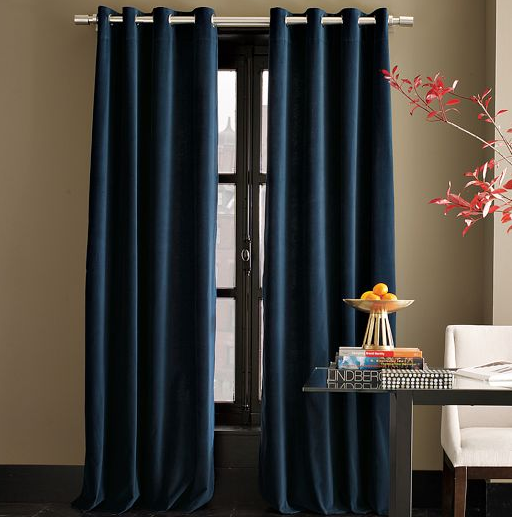 grommet curtains in regal blue are calling my name because they will give me that dark cave iu0027m craving for saturday mornings find all sale curtains