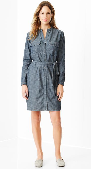 Chambray utility dress, GAP sale