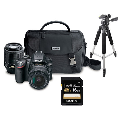 Nikon D3200 Camera & Accessory Bundle for $569.99 today only!