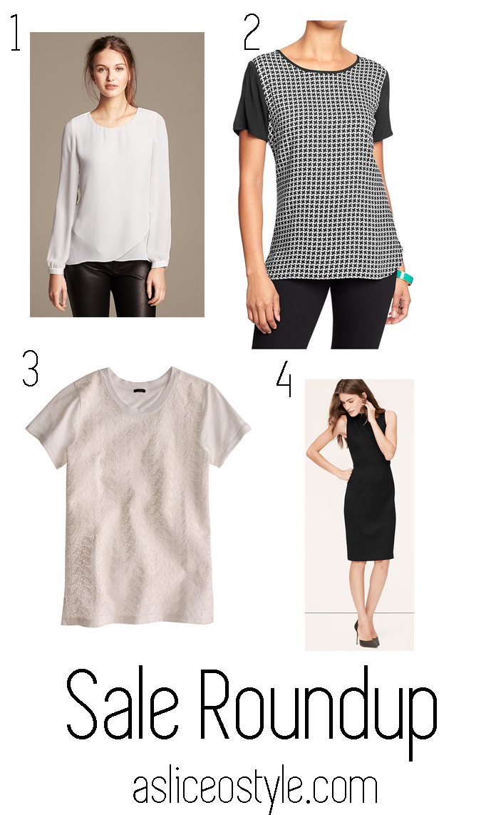 Best sales, sale roundup, clothing deals, J Crew, Banana Republic, Old Navy, Ann Taylor LOFT