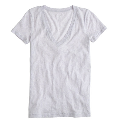 J Crew sale, outfit inspiration, sale clothing, v neck tee