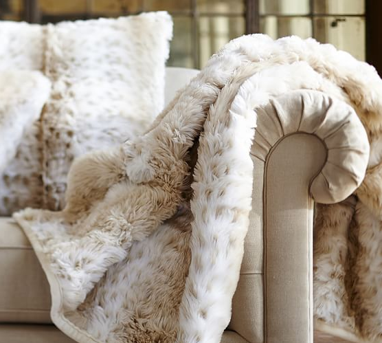 Pottery Barn, Christmas shopping, faux fur, Kate Spade, gift ideas, free shipping, blanket
