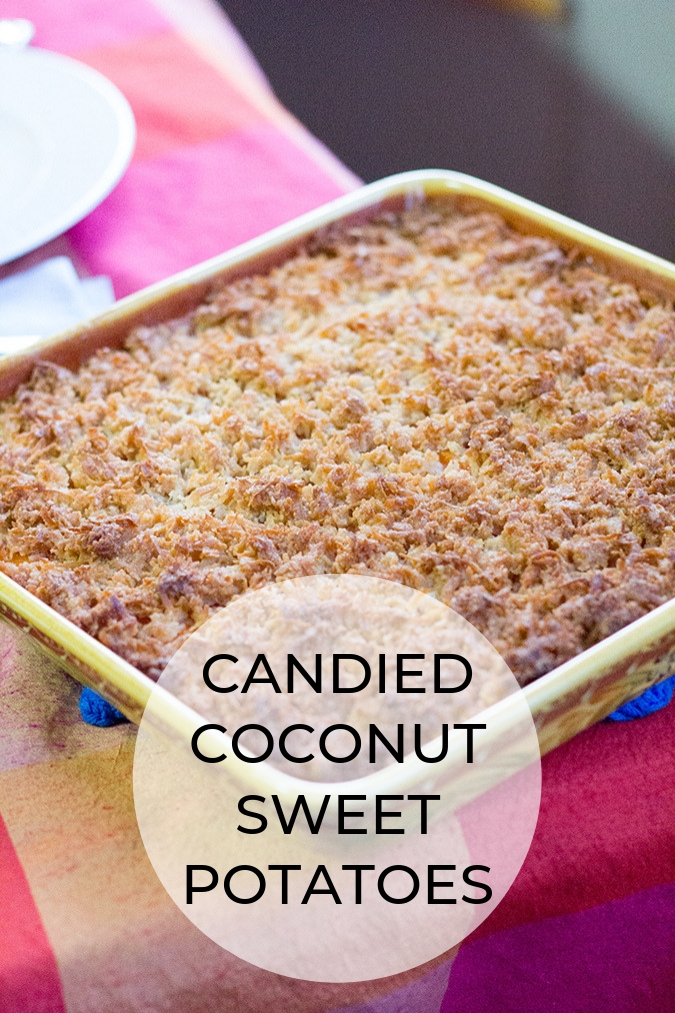 Candied Coconut Sweet Potatoes A Slice Of Style