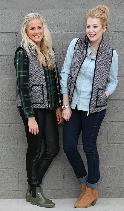 Cute J Crew Inspired Herringbone Vest Cute Straws A
