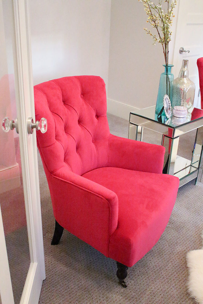 Beau Bright Pink Chairs, Hot Pink Chairs, Chairs On Sale, Furniture Sale, Pink