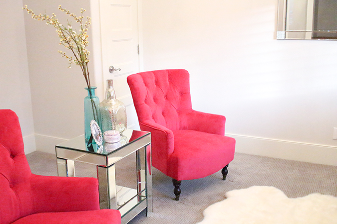 Bright pink chairs, hot pink chairs, chairs on sale, furniture sale, pink accent chair in living room, good deals on furniture, the best furniture sales, A Slice of Style, best deals. sales, World Market, cute decorating ideas, home decor, interior design
