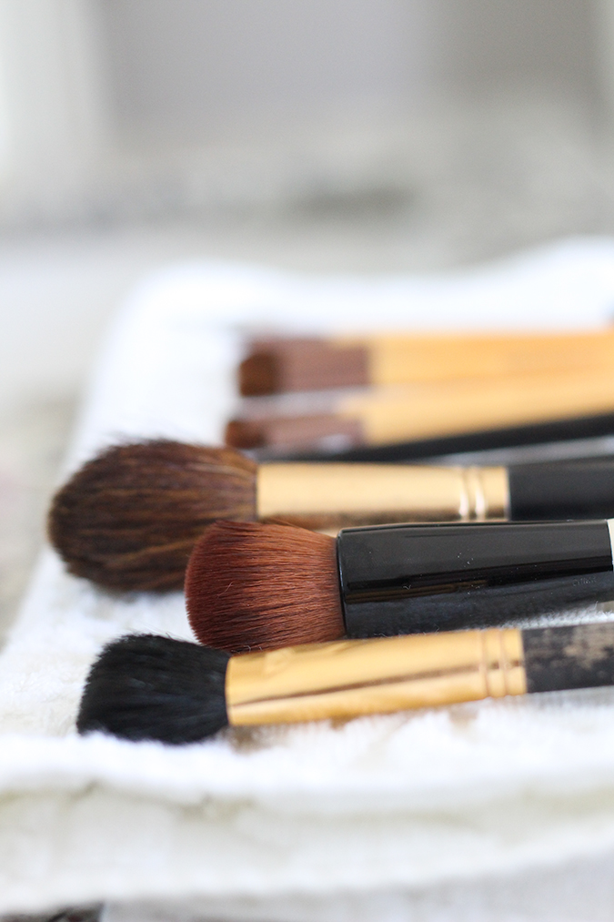 How to clean makeup brushes, best way to clean makeup brushes, tutorial, tutorial on how to clean makeup brushes, most inexpensive way to clean makeup brushes, uses for Castile soap, best ways to use Castile soap  | The BEST Way to Clean Makeup Brushes featured by top Utah life and style blog, A Slice of Style: image of clean makeup brushes