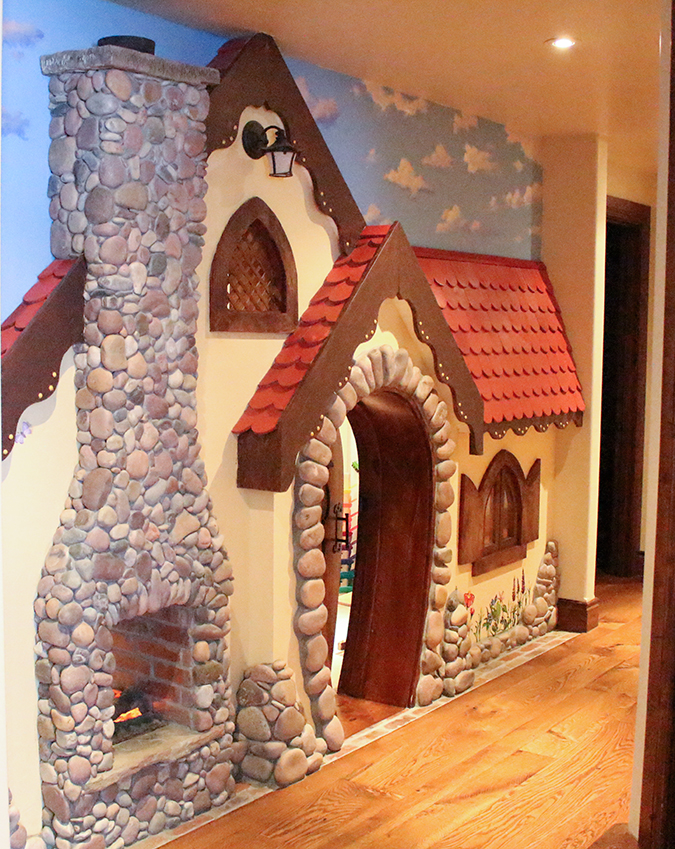 Playhouse ideas, playroom ideas, coolest playhouse ever, coolest playroom ever, most amazing playroom, playhouse, playroom, cabin playroom, cabin playhouse, cute playroom ideas, best playroom ideas, cute playhouse ideas