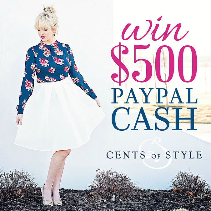 Instagram giveaway, Cents of Style giveaway, $500 giveaway, blogger giveaway, Instagram