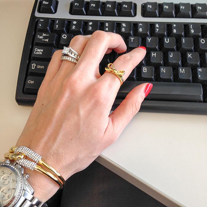 Kate Spade Skinny Mini Bow Ring Jewelry