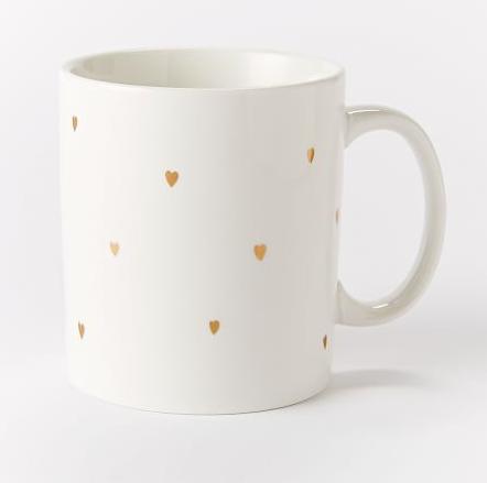 Heart mug, Valentine's mug, West Elm, free shipping, Valentine's Day