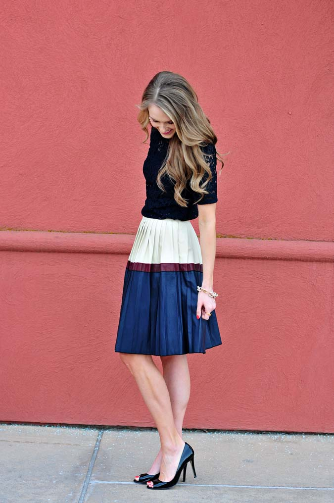 Giveaway, $50 giveaway, Fevre fashion, cute outfit ideas, Easter outfit ideas, Easter Sunday outfit ideas, faux leather skirt, leather skirt, lace shirt, lace top