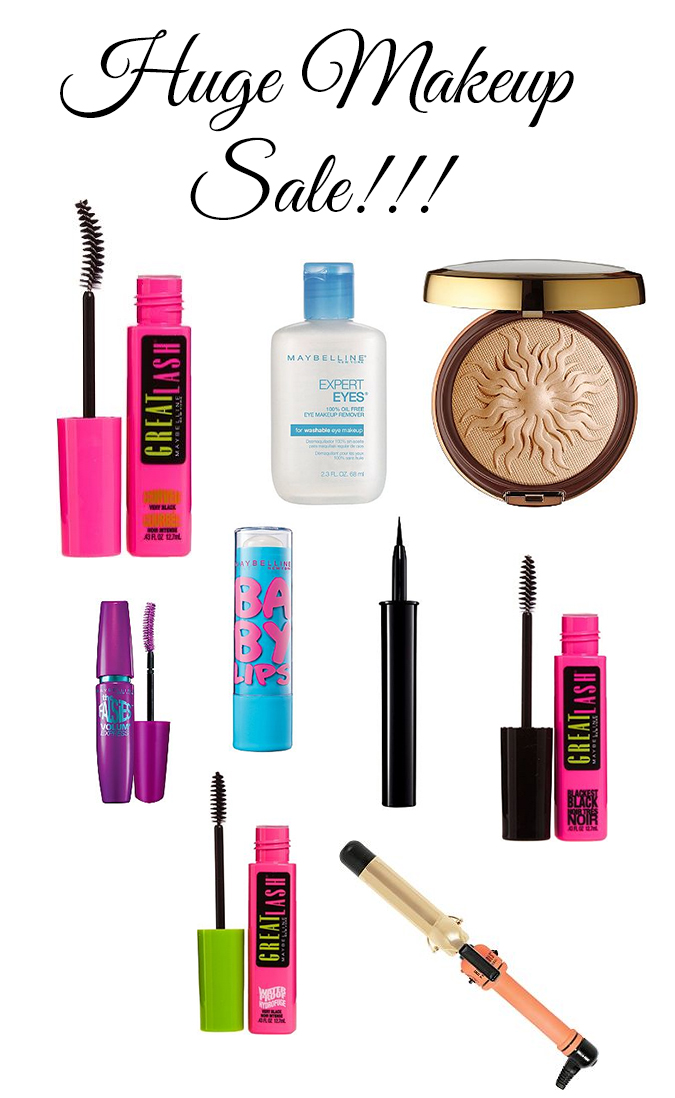 Huge makeup sale, 40% off, Maybelline makeup, Hot tools, hot tools sale, hot tools curling iron, Ulta makeup sale