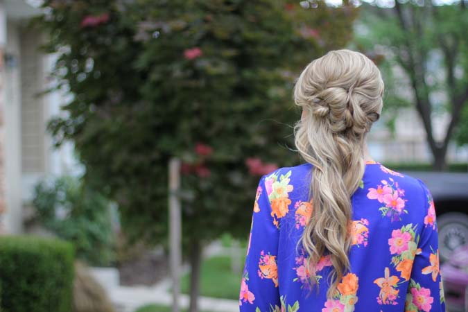 Nordstrom Summer Clearance sale, pinkish trends, bright floral dress, emma's hair parlour, Utah hair, long hair updo ideas, hair style ideas