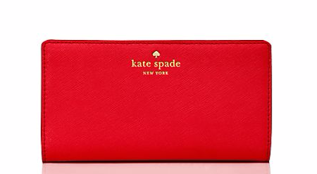 Kate Spade sale, good deals on Kate Spade, Kate spade wallets, Kate Spade purses, blue wallet, zipper wallet, good purses for summer