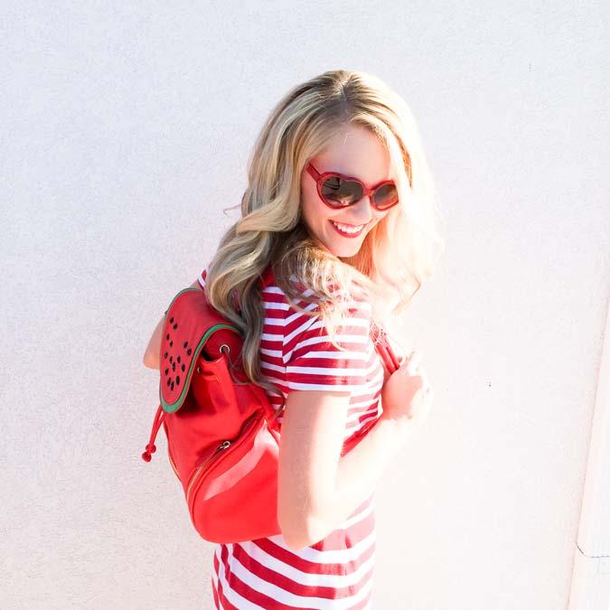 Heart sunglasses, watermelon backback, back to school, back to school shopping, good deals, backpack, sale, infertility, IVF