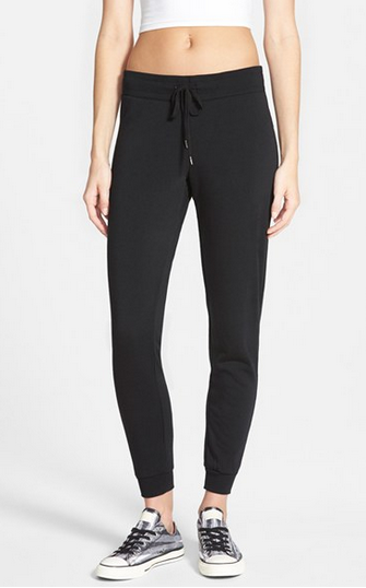 black skinny sweatpants