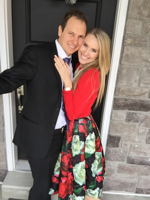 IVF treatment with Neupogen, featured by top Utah lifestyle blog, A Slice of Style: image of a couple smiling coming back from Church,