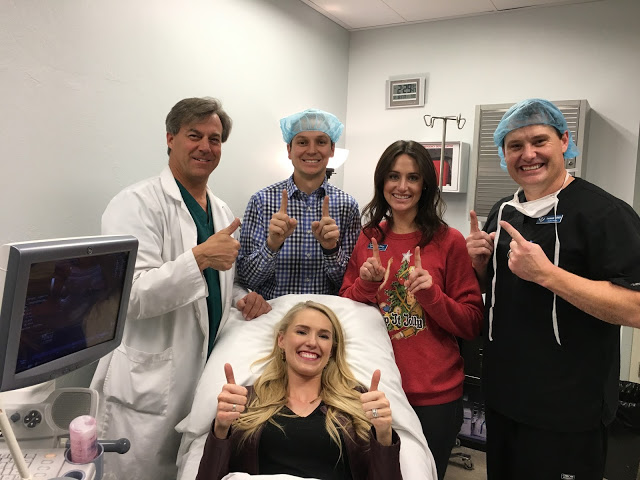 Frozen embryo transfer process featured by top infertility blog, A Slice of Style