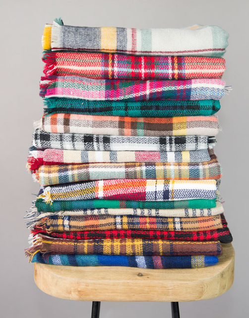 plaid blanket scarf sale