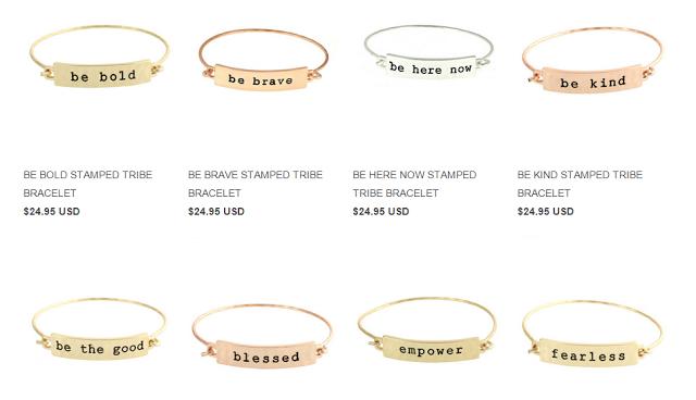 mantra bracelets