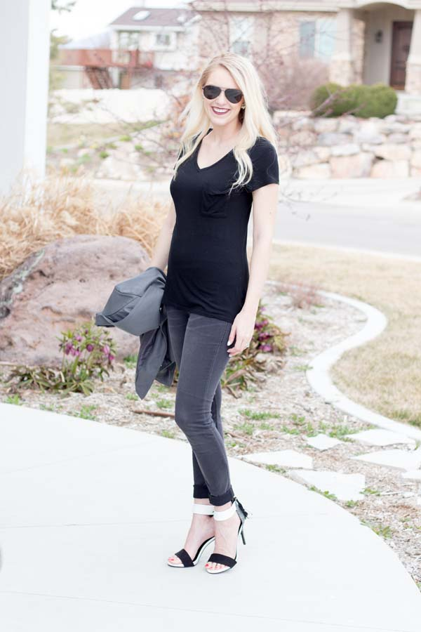 Grey and black spring outfit