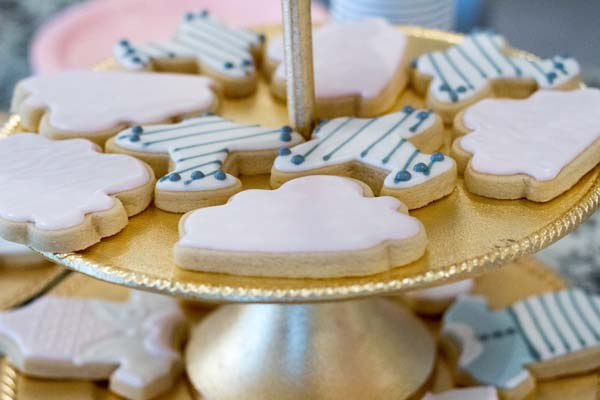 twins gender reveal cookies