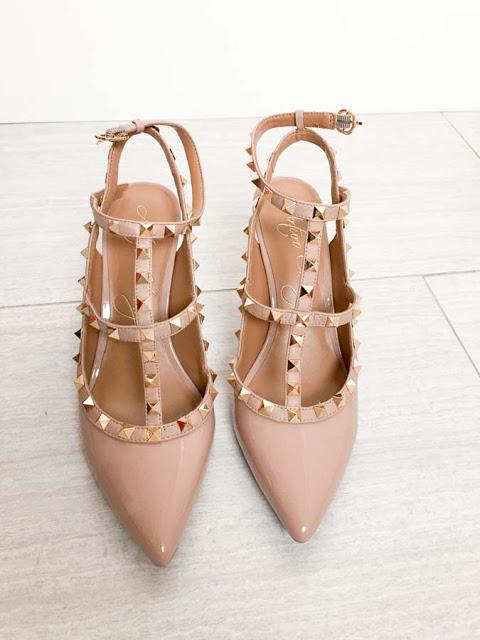 Valentino Rockstud look-alike heels
