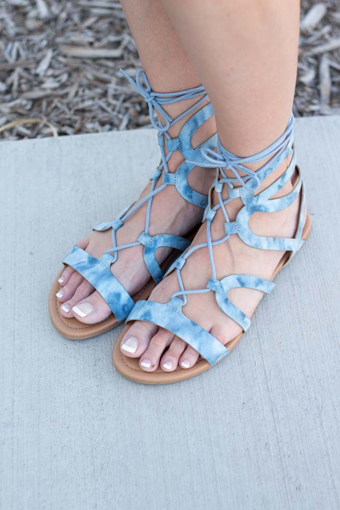 tie on gladiator sandals