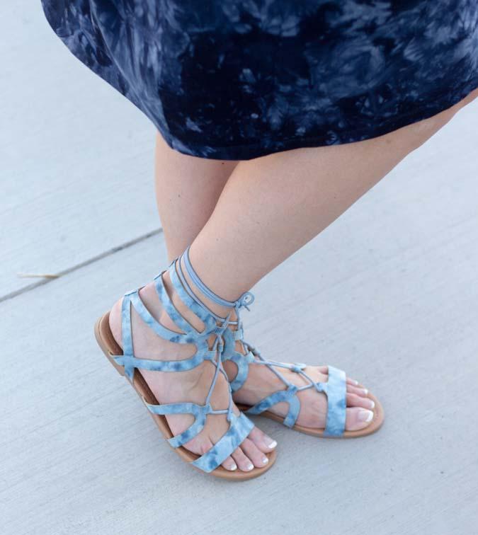 tie on gladiator sandals