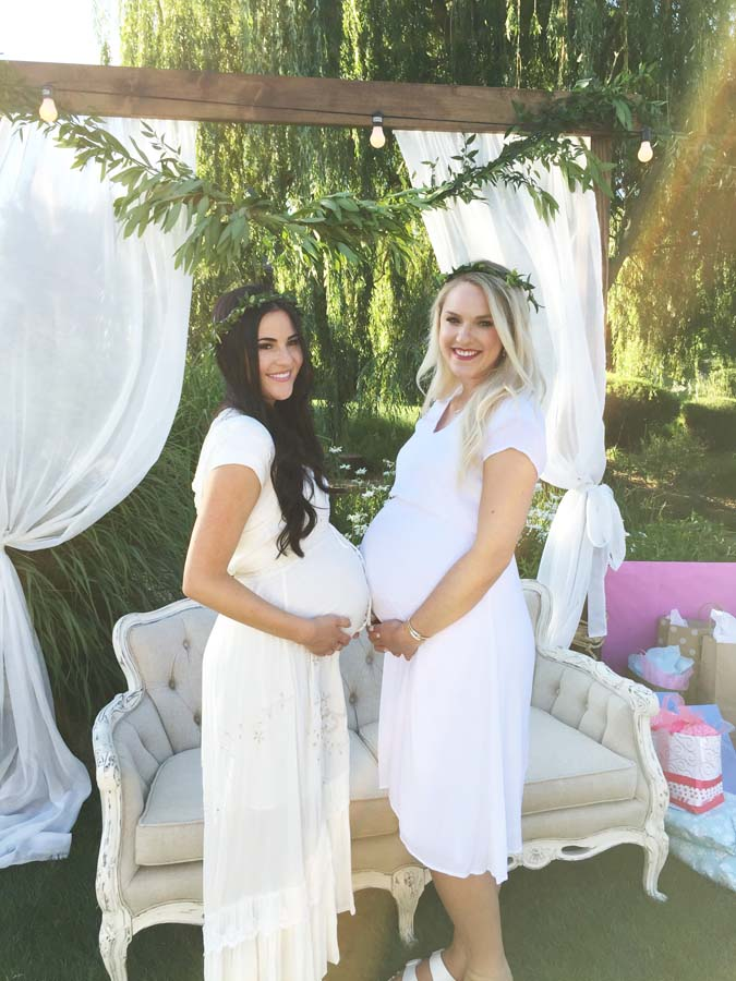 32 weeks pregnant with twins featured by top US life and style blogger and twins mom, A Slice of Style