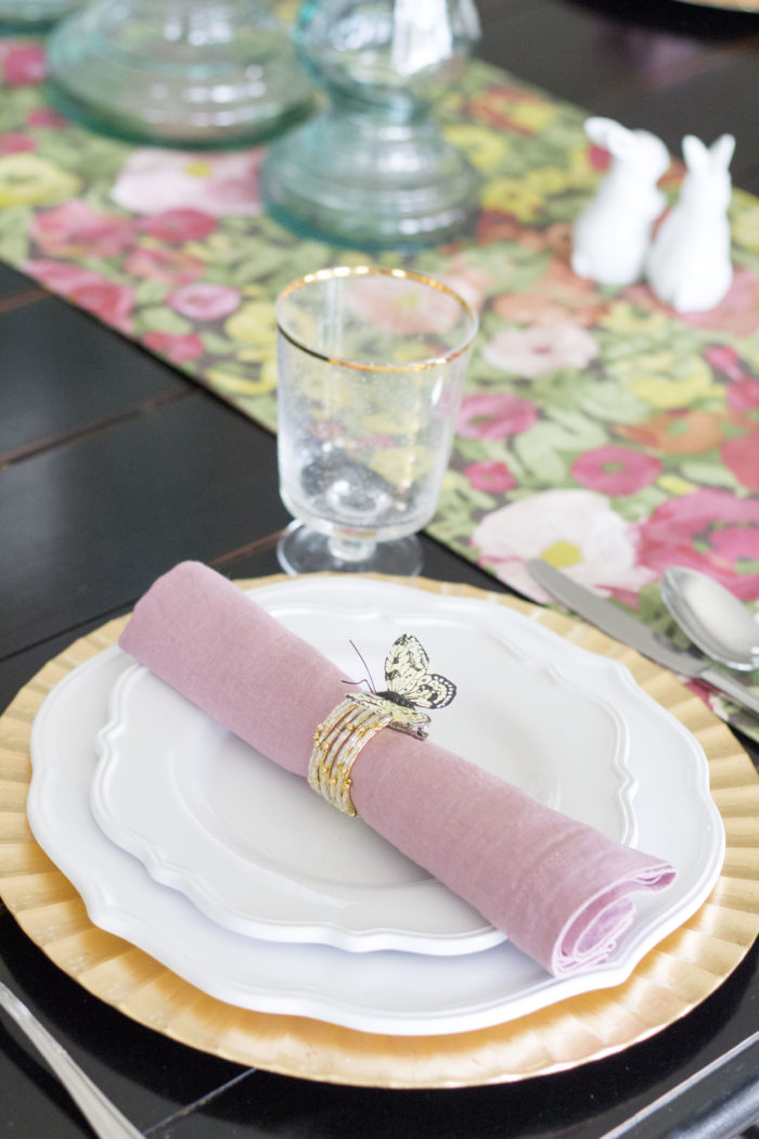Easter Table Setting featured by top US life and style blog A Slice of Style