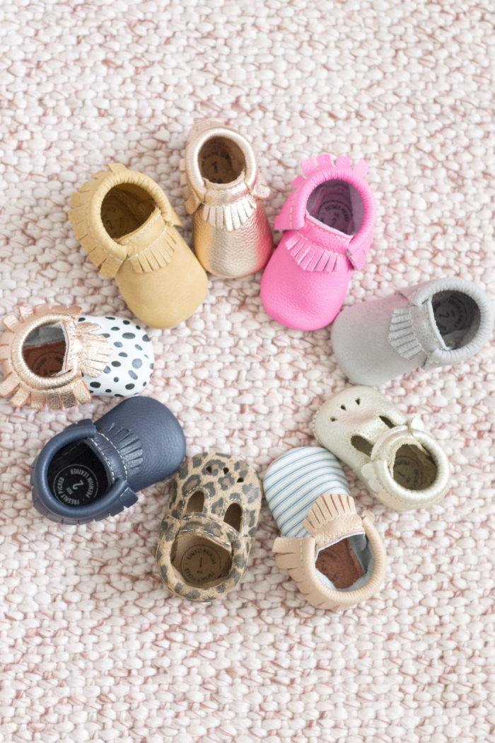 Best Labor Day Sales 2019 by popular Utah fashion blog: image of Freshly Picked baby moccasins.