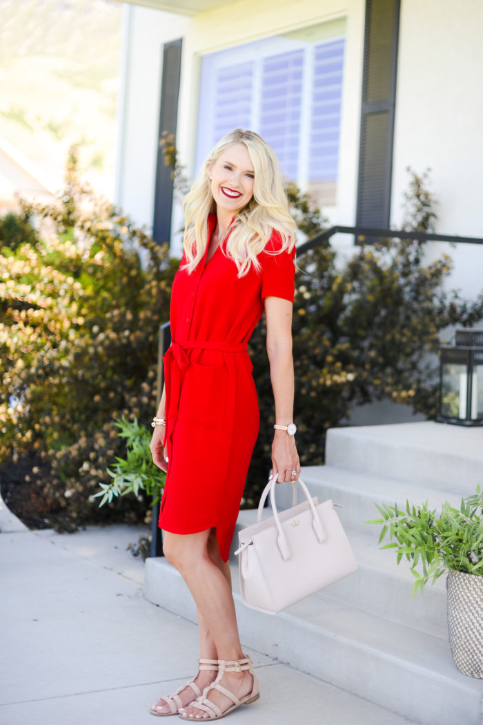 The red dress that is perfect for the 4th of july 4th of for Rachel parcell closet