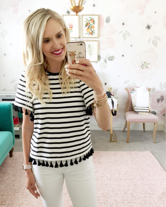 the best striped tees for women
