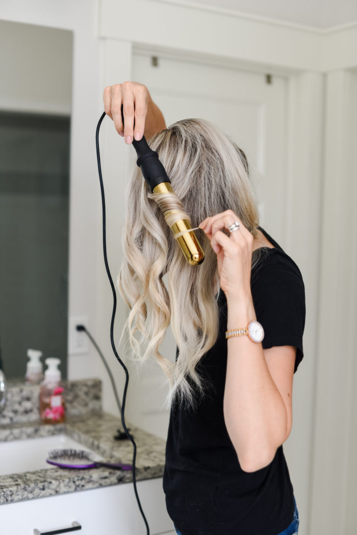 how to curl long hair