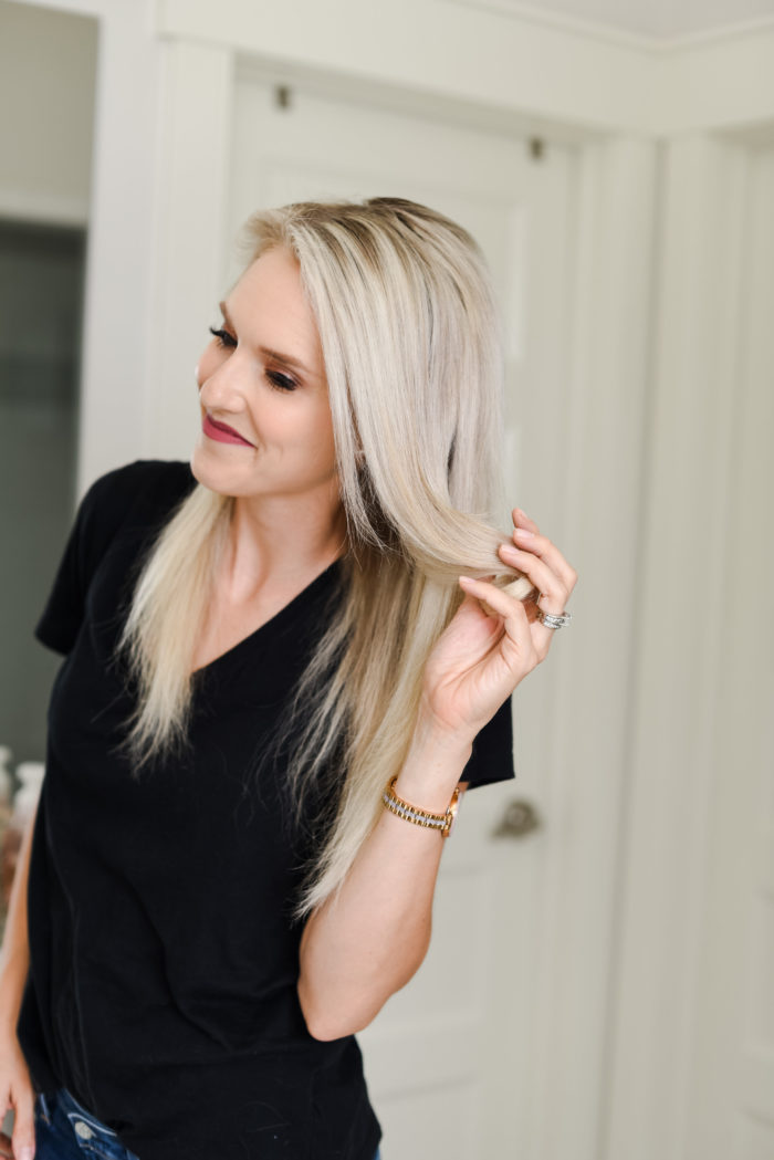How to Curl Your Long Hair + Add a lot of Body featured by top Utah beauty blog, A Slice of Style