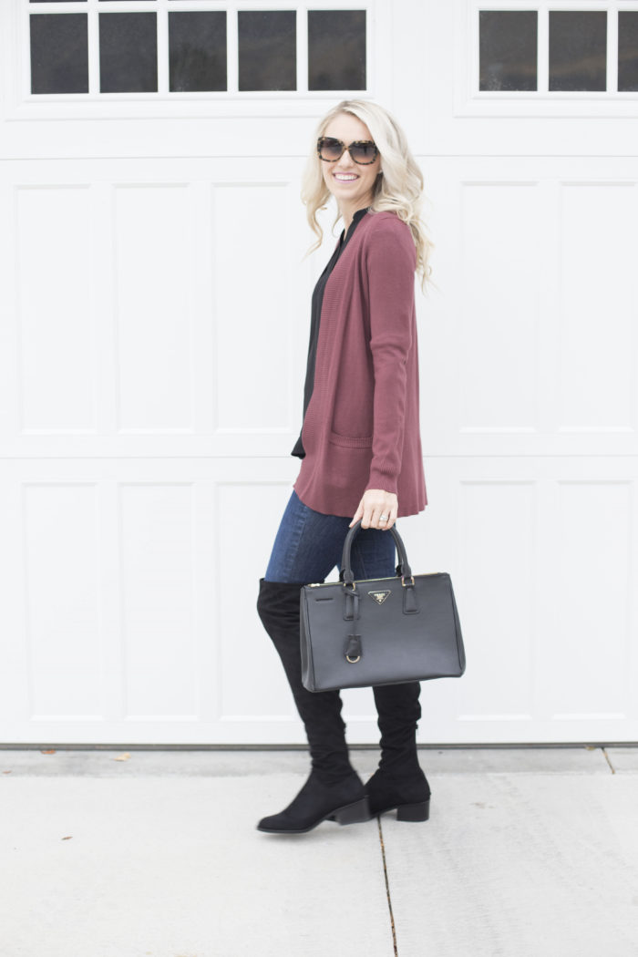 how to wear knee-high boots plus a really great sweater sale! - a