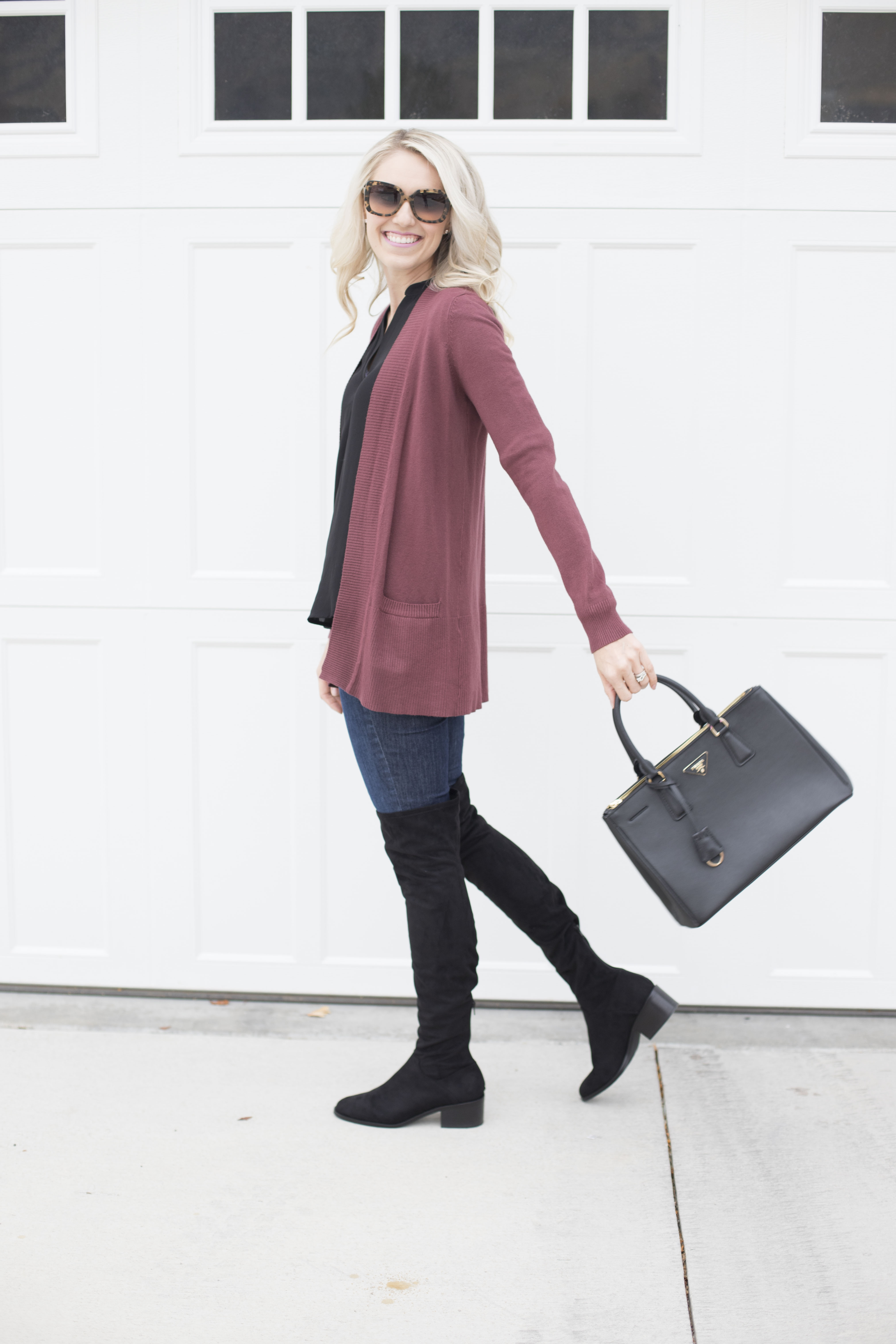 How to Wear Knee-High Boots Plus a Really Great Sweater Sale!