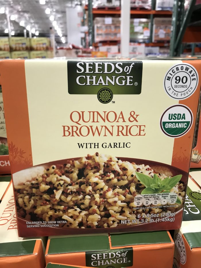 Costco staples and favorites featured by top Utah lifestyle blog, A Slice of Style: image of Seeds of Change quinoa and brown rice