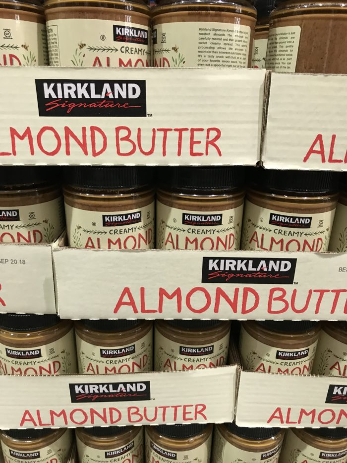 Costco staples and favorites featured by top Utah lifestyle blog, A Slice of Style: image of Kirkland almond butter